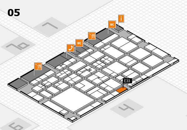 Tube 2018 hall map (Hall 5): stand E33