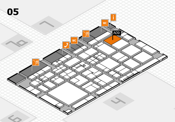 Tube 2018 hall map (Hall 5): stand A09
