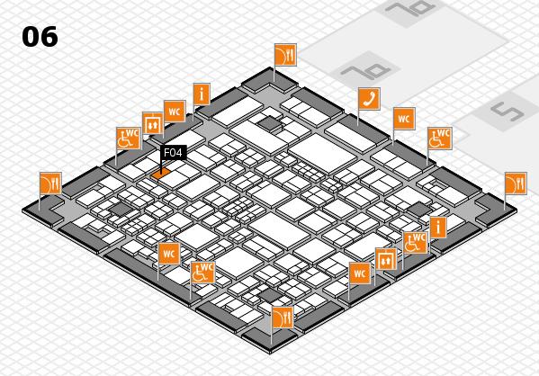 Tube 2018 hall map (Hall 6): stand F04