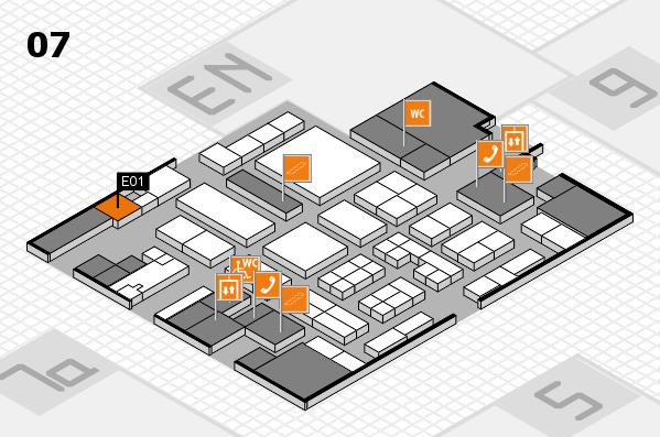 Tube 2018 hall map (Hall 7): stand E01