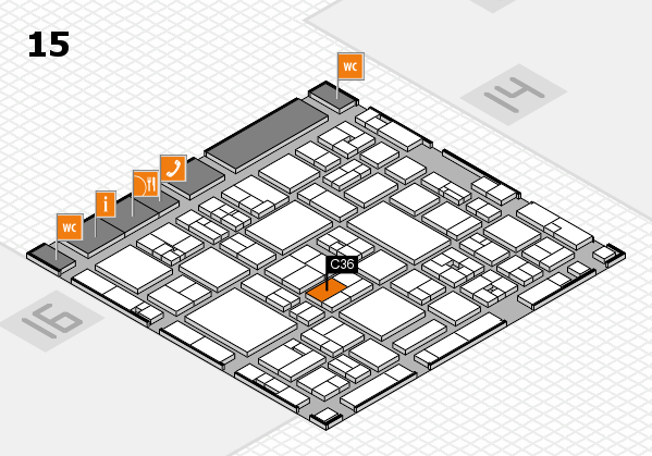 wire 2018 | Tube 2018 hall map (Hall 15): stand C36