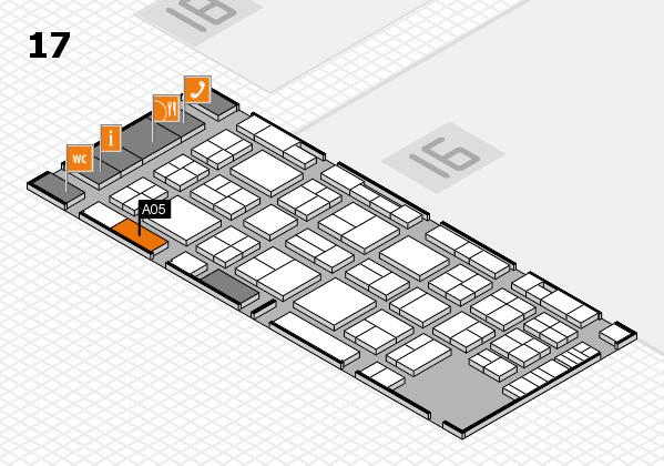 Tube 2018 hall map (Hall 17): stand A05