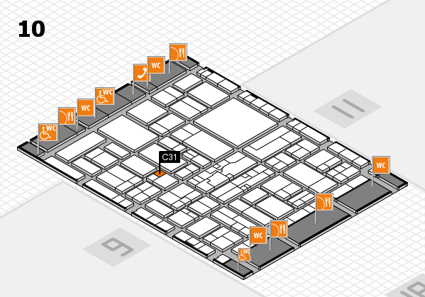wire 2018 hall map (Hall 10): stand C31