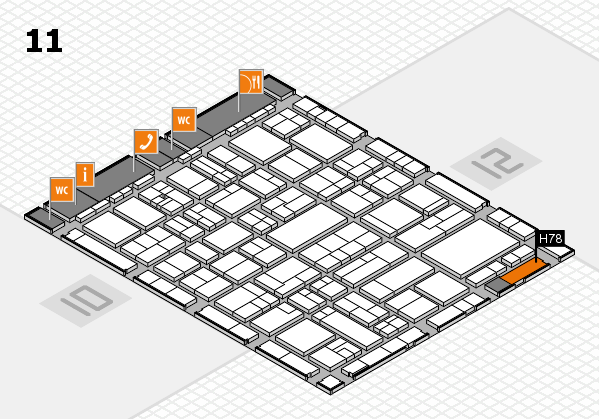wire 2018 hall map (Hall 11): stand H78