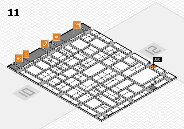wire 2018 hall map (Hall 11): stand J60