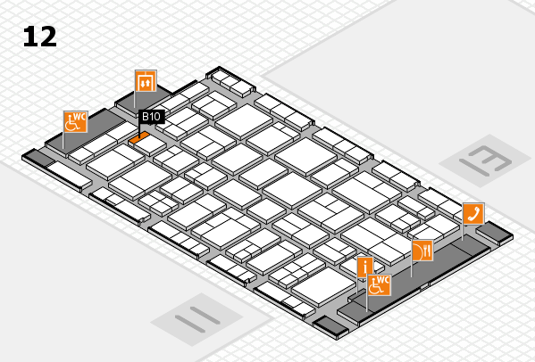 wire 2018 hall map (Hall 12): stand B10