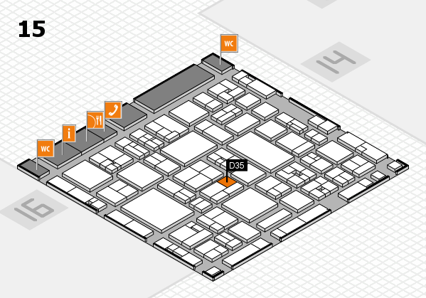 wire 2018 hall map (Hall 15): stand D35