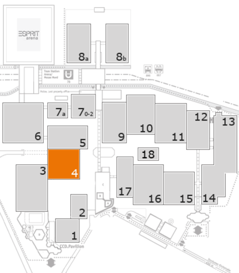 Tube 2016 fairground map: Hall 4