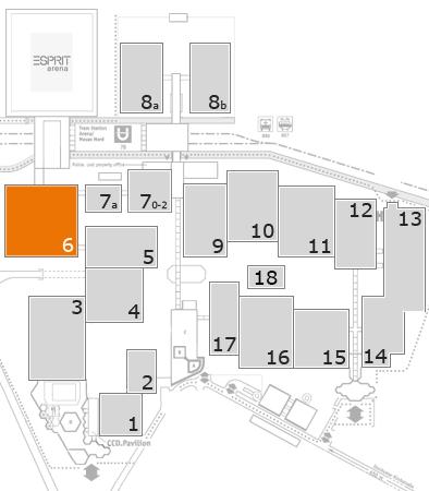 Tube 2018 fairground map: Hall 6