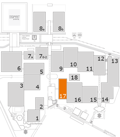 Tube 2018 fairground map: Hall 17
