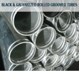 Black & Galvanized Rolled Grooved Tubes