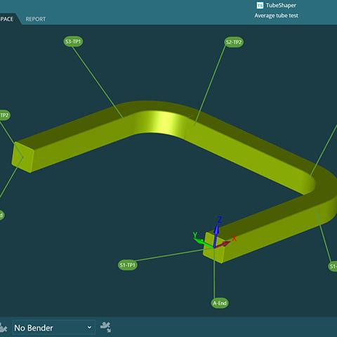 Hexagon MI TubeShaper v2 square section tube 3 software screenshot