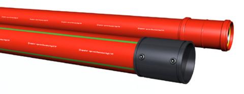 Schutzrohr aus Polypropylen für Hoch- und Höchstspannungskabel bis 380 kV