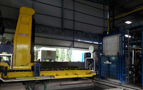 3 Tons Batch Gas Fired Solution Annealing Furnace