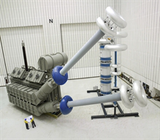 AC resonant test system with variable inductance, modular insulating case