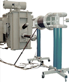 AC resonant test system with variable inductance, metal tank type