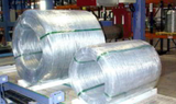 Strapped and wrapped bulk coils of galvanised wire